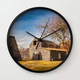 Welsh Quarry Buildings Wall Clock