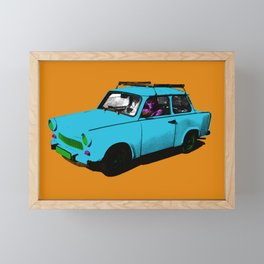 Trabant blue pop Framed Mini Art Print
