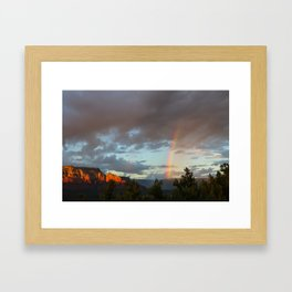 Sedona Rainbow Framed Art Print