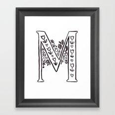 M is for Framed Art Print