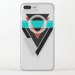 Tacit - Geometric Shape Design Clear iPhone Case