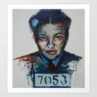 parks Art Prints featuring Rosa Parks by Debbie Chessell