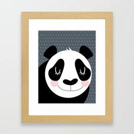 Panda - B/W Framed Art Print