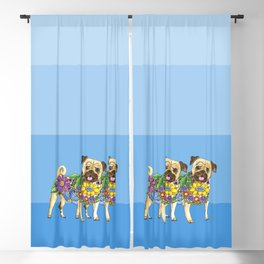 Pug Pals Blackout Curtain