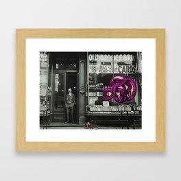 BLACKDOG Snake Bookstore Framed Art Print