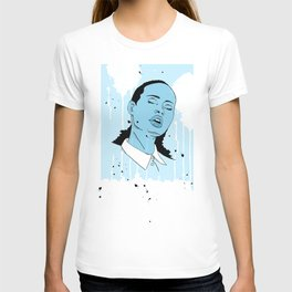 Woman in Blue T-shirt
