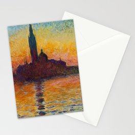 San Giorgio Maggiore by Twilight by Claude Monet Stationery Cards