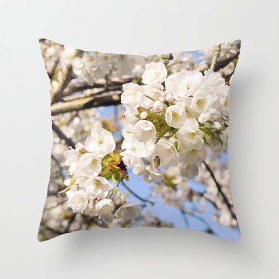Hello Spring #3 Throw Pillow
