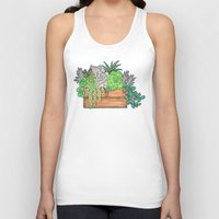 succulents Tank Tops featuring Succulents by Little Lost Garden