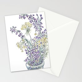 Wild Flowers Ink and Watercolor  Stationery Cards
