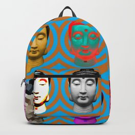 Buddha Heads Backpack