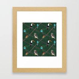 Crossed Branches Framed Art Print