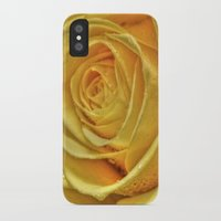 rose gold iPhone & iPod Cases featuring Gold Rose by Tracy66