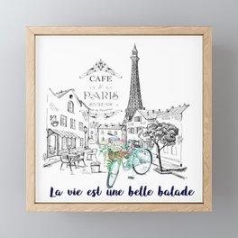 La vie est une belle balade Framed Mini Art Print