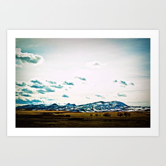 Go West Art Print