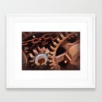 gears of war Framed Art Prints featuring Gears by ephemerality