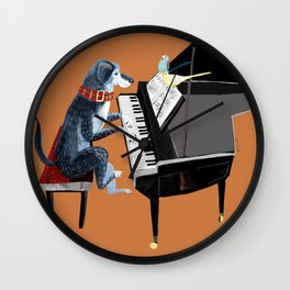 Piano lesson with Angel Wall Clock