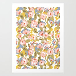 Colorful flower pattern Art Print