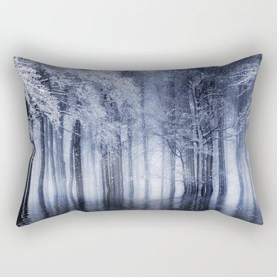 Mystical Winter Lake Rectangular Pillow