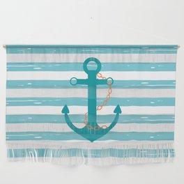 AFE Nautical Teal Ship Anchor Wall Hanging