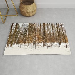 Maple Beech Forest in the Winter Rug