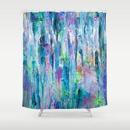 Silver Rain Shower Curtain