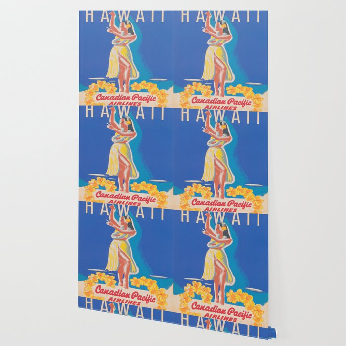 Hawaii Hula Girl Vintage Travel Poster Wallpaper By Vintagevault