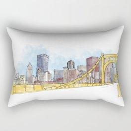 Pittsburgh Sister Bridge Rectangular Pillow