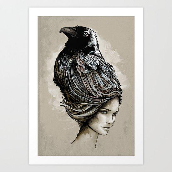 Raven Haired Art Print