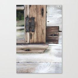 gray brown window frame Canvas Print