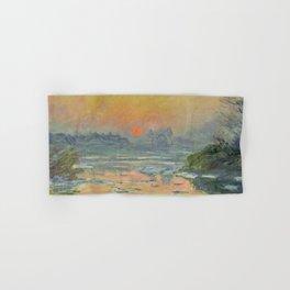 """Claude Monet """"Sunset on the Seine in Winter"""" Hand & Bath Towel"""
