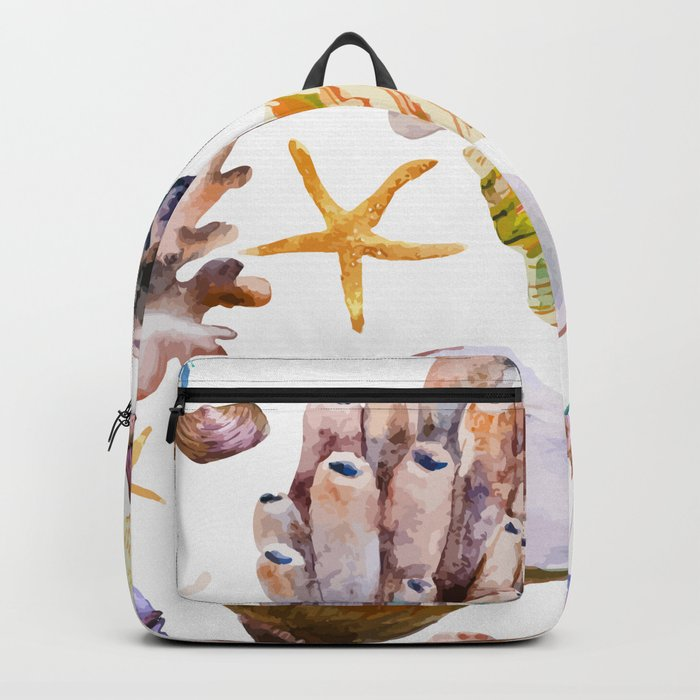 Sea Life Pattern 12 Backpack