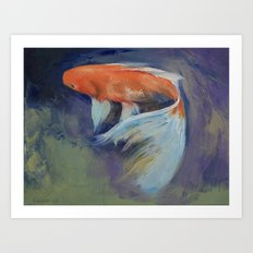 Koi Fish Painting Art Print