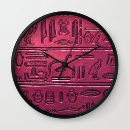 Hieroglyphs 2014-1031 Wall Clock