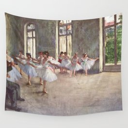 Ballet Rehearsal 1873 By Edgar Degas Reproduction by the Famous French Painter Dance Class Scene Wall Tapestry