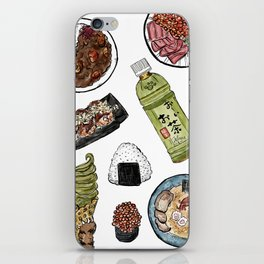 Favourite Japanese Foods 2 iPhone Skin