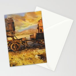 Abandoned trains in the Salar de Uyuni at sunset- Bolivia Stationery Cards