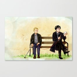 Red String of Fate Canvas Print