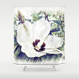 The Art Of A Hibiscus Flower Shower Curtain