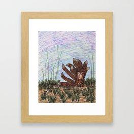 Kitsune Fox Framed Art Print