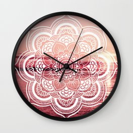 Mandala Water : Rose Pink Wall Clock