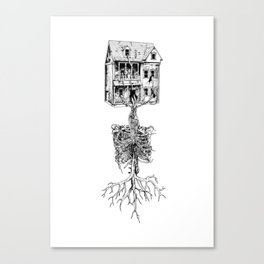 Petite Mort + Deep Breath Canvas Print