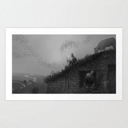 Sod House Art Print