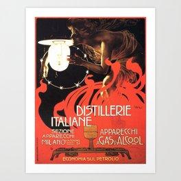 Vintage poster - Distillerie Italiane Art Print