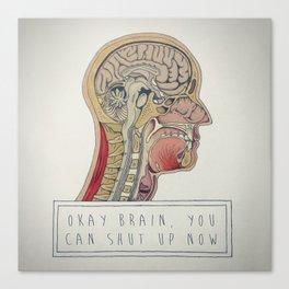 Loud Brain Canvas Print