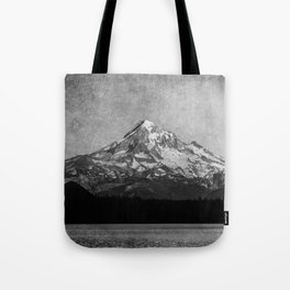 Mt Hood Black and White Vintage Nature Photography Tote Bag