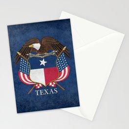 Texas flag and eagle crest - original vintage concept Stationery Cards