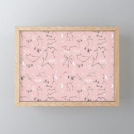 Astrology Pattern Pink #homedecor Framed Mini Art Print