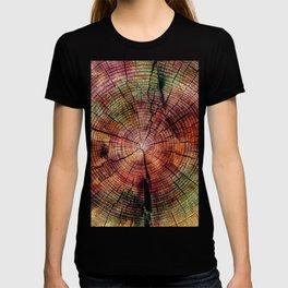 Nature Flow - Modern Pastel Alcohol Ink Wood T-shirt