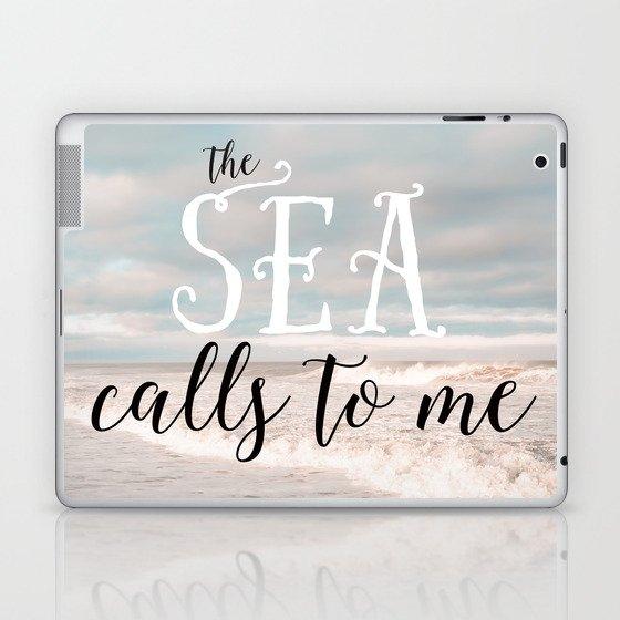 The Sea Calls to Me Laptop & iPad Skin